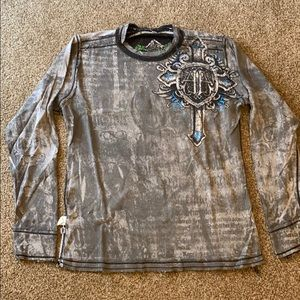 Buckle reversible long sleeve shirt